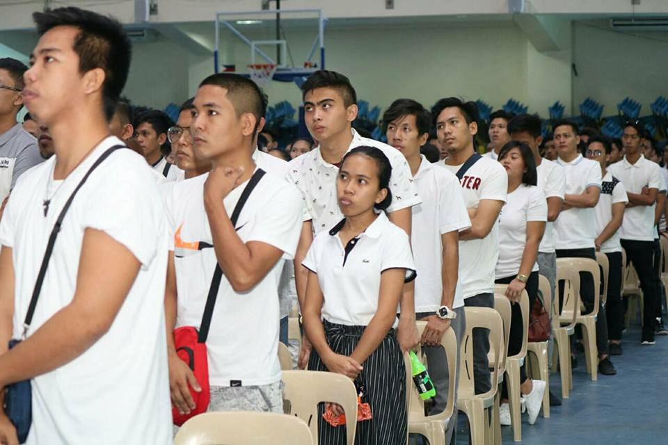The mass oath taking ceremony of Sangguniang Kabataan (SK