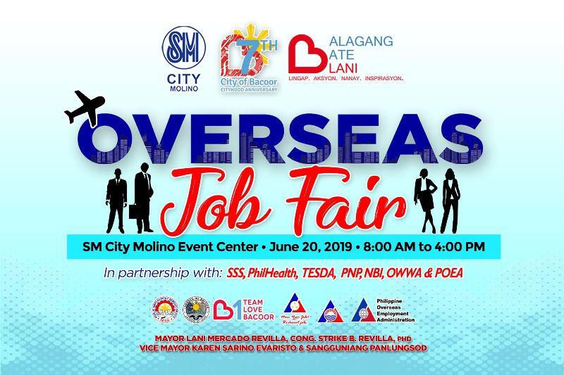 OVERSEAS JOB FAIR – SM CITY MOLINO EVENT CENTER – JUNE 20, 2019